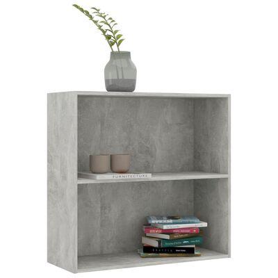 "vidaXL 2-Tier Book Cabinet Concrete Gray 31.5""x11.8""x30.1"" Chipboard"