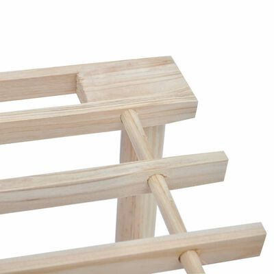 vidaXL 3-Tier Shoe Racks 2 pcs Solid Fir Wood
