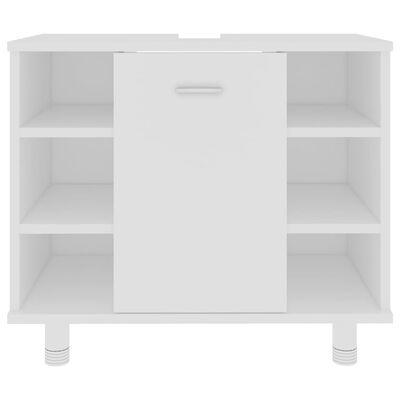 "vidaXL Bathroom Cabinet White 23.6""x12.6""x21.1"" Chipboard"