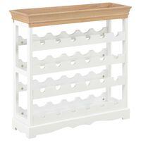 "vidaXL Wine Cabinet White 27.6""x8.9""x27.8"" MDF"