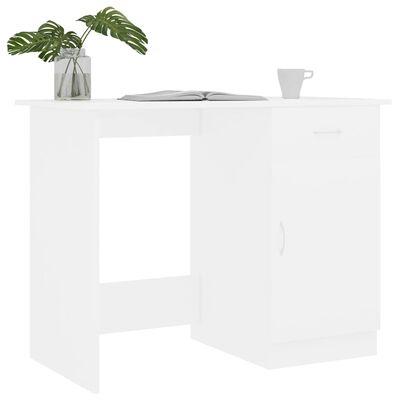 "vidaXL Desk White 39.4""x19.7""x29.9"" Chipboard"