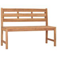 """vidaXL Garden Bench 47.2"""" Solid Teak Wood"""