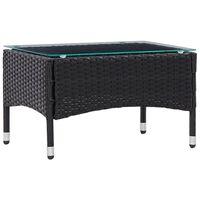 "vidaXL Coffee Table Black 23.6""x15.7""x14.2"" Poly Rattan"