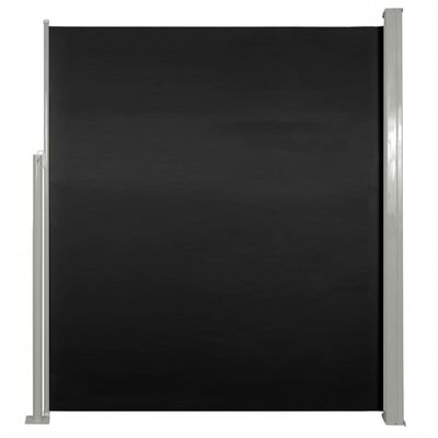 """Patio Terrace Side Awning 63""""x118"""" Black"""