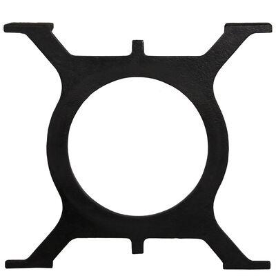 vidaXL Coffee Table Legs 2 pcs O-Frame Cast Iron