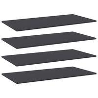 """vidaXL Bookshelf Boards 4 pcs Gray 39.4""""x19.7""""x0.6"""" Chipboard"""