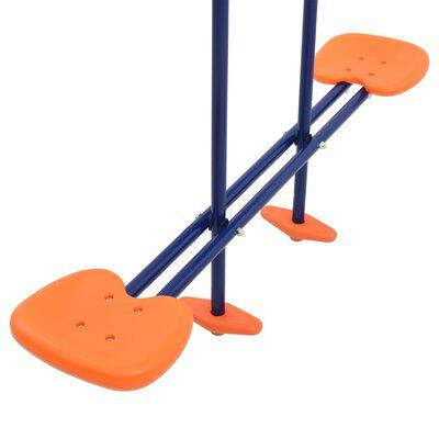 vidaXL Swing Set with Gymnastic Rings and 4 Seats Steel