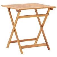 "vidaXL Folding Garden Table 27.6""x27.6""x29.5"" Solid Acacia Wood"