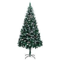 """vidaXL Artificial Christmas Tree with Pine Cones and White Snow 94.5"""""""