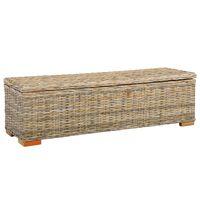 "vidaXL Storage Box 47.2"" Kubu Rattan and Solid Mango Wood"