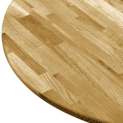 """vidaXL Table Top Solid Oak Wood Round 0.9"""" 35.4"""""""
