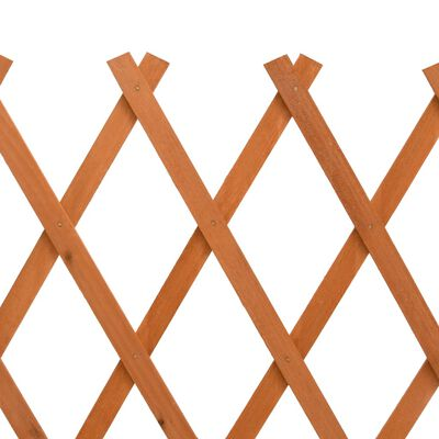 "vidaXL Garden Trellis Fence Orange 59.1""x31.5"" Solid Firwood"