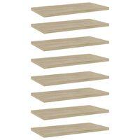 """vidaXL Bookshelf Boards 8 pcs Sonoma Oak 15.7""""x7.9""""x0.6"""" Chipboard"""