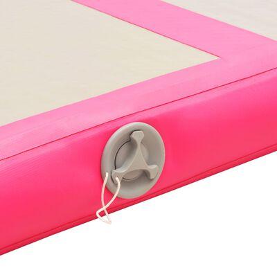 "vidaXL Inflatable Gymnastics Mat with Pump 118.1""x39.3""x3.9"" PVC Pink"