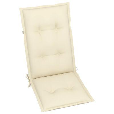 """vidaXL Garden Chair Cushions 4 pcs Cream 47.2""""x19.7""""x2.8"""""""