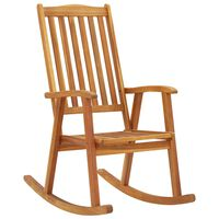 vidaXL Rocking Chair Solid Acacia Wood