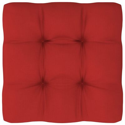 "vidaXL Pallet Sofa Cushion Red 22.8""x22.8""x4"""