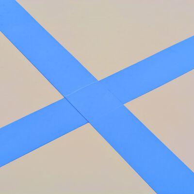 "vidaXL Inflatable Gymnastics Mat with Pump 275.6""x39.4""x3.9"" PVC Blue"