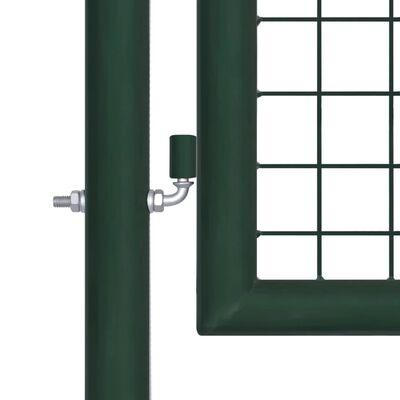 """vidaXL Fence Gate Steel 39.4""""x49.2"""" Green"""