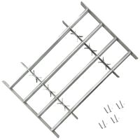 """Adjustable Security Grille for Windows with 4 Crossbars 39.4""""-59.1"""""""