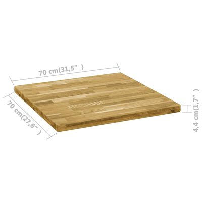"vidaXL Table Top Solid Oak Wood Square 1.7"" 27.6""x27.6"""
