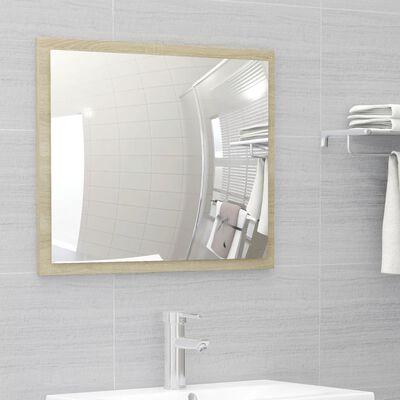 vidaXL 2 Piece Bathroom Furniture Set Sonoma Oak Chipboard