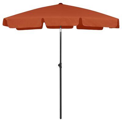 "vidaXL Beach Umbrella Terracotta 70.9""x47.2"""