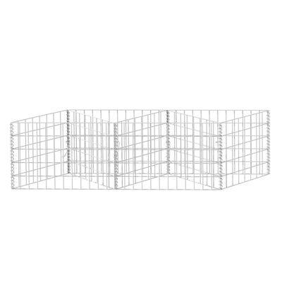 """vidaXL Gabion Basket Galvanised Steel 47.2""""x11.8""""x19.7"""""""