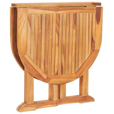 vidaXL 5 Piece Folding Outdoor Dining Set Solid Teak Wood