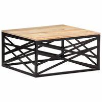 """vidaXL Coffee Table 26.8""""x26.8""""x13.8"""" Solid Mango Wood"""
