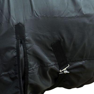 "vidaXL Fleece Rug Double Layers with Surcingles 57"" Black"