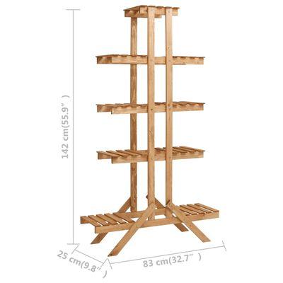 """vidaXL Plant Stand 32.7""""x9.8""""x55.9"""" Firwood"""