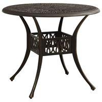 "vidaXL Garden Table Bronze 35.4""x35.4""x29.1"" Cast Aluminum"