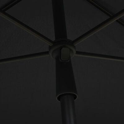 """vidaXL Garden Parasol with Pole 82.7""""x55.1"""" Anthracite"""
