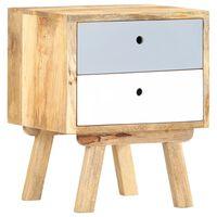 "vidaXL Bedside Cabinet 15.7""x13.8""x19.7"" Solid Mango Wood"