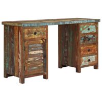 "vidaXL Pedestal Desk Solid Reclaimed Wood 55.1""x19.6""x30.3"""