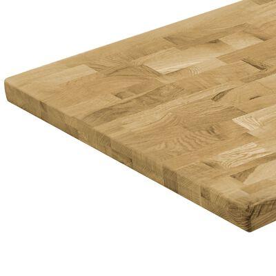 "vidaXL Table Top Solid Oak Wood Rectangular 1.7"" 47.2""x23.6"""