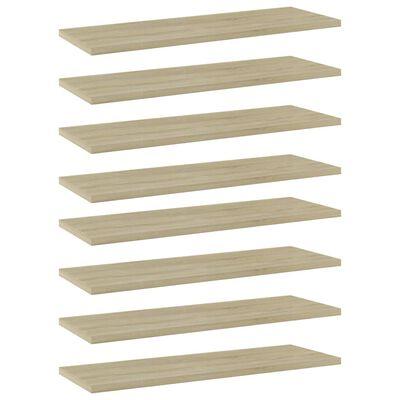 """vidaXL Bookshelf Boards 8 pcs Sonoma Oak 23.6""""x7.9""""x0.6"""" Chipboard"""