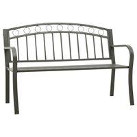 """vidaXL Garden Bench 49.2"""" Steel Gray"""