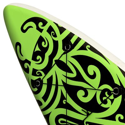 """vidaXL Inflatable Stand Up Paddleboard Set 144.1""""x29.9""""x5.9"""" Green"""