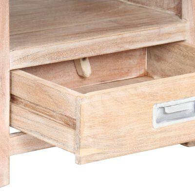 """vidaXL Bedside Table 15.7""""x11.8""""x23.6"""" Solid Acacia Wood"""