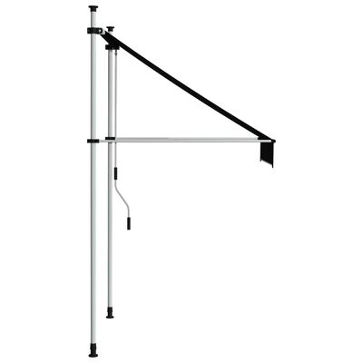 """vidaXL Manual Retractable Awning 39.4"""" Anthracite"""