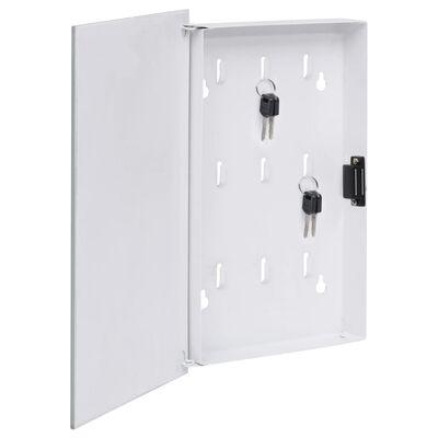 "vidaXL Key Box with Magnetic Board White 11.8""x7.9""x2.2"""