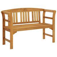 """vidaXL Garden Bench 47.2"""" Solid Acacia Wood"""