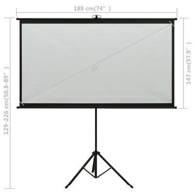 "vidaXL Projection Screen with Tripod 90"" 4:3"