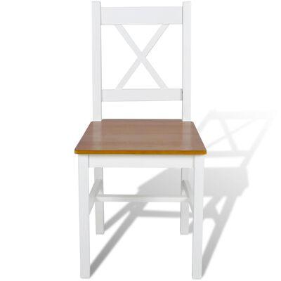 vidaXL Dining Chairs 4 pcs White Pinewood