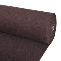 "vidaXL Exhibition Carpet Rib 78.7""x393.7"" Brown"