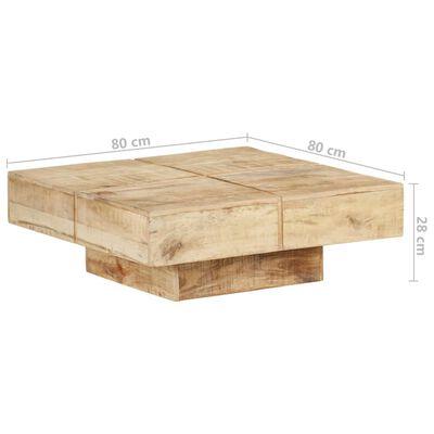 """vidaXL Coffee Table 31.5""""x31.5""""x11"""" Solid Mango Wood"""