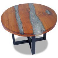 """vidaXL Coffee Table Teak Resin 23.6"""""""