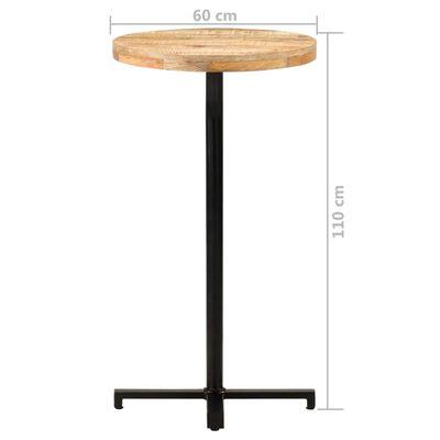 "vidaXL Bar Table Round Ø23.6""x43.3"" Rough Mango Wood"